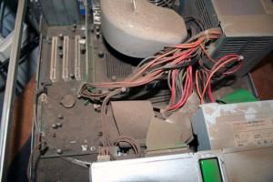 Verstaubter Computer