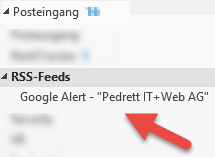 Google Alert in Outlook