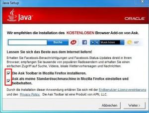 Java mit Adware